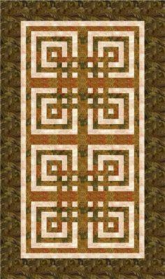 Interlaced Blocks quilt pattern