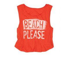 Beach Please Women's Tank Shirt