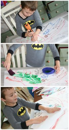 making prints with recycled materials
