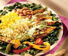 Grilled Spring Equinox Chicken Salad