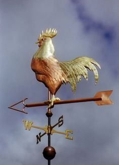 coast weather, folk art, chicken coops, chanticl rooster, cottages, barns, rooster weather, country kitchens, weather vanes