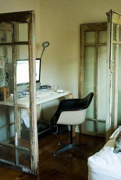 DIY:: Recycled Glass Doors as Room Dividers