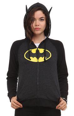 "Gifts for Teen Girls:  DC Comics ""I Am Batman"" Girls Hoodie @ Hot Topic"