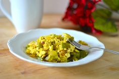 vegan scrambled eggs.   (add spinach 2-3 minutes before you take it off the stove, it's to die for.)
