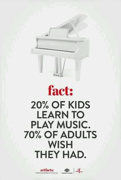 Our kids will learn to play the piano.