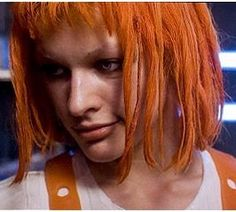 """Milla Jovovich in """"The Fifth Element"""" [ I want to nibble on her lower lip ! - PSC ]"""