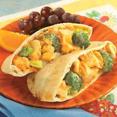 Chicken Broccoli Pita Pockets - Recipe.com (via @Kris Parsons.com)