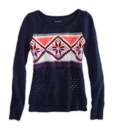 Fair Isle Crew Sweater / by American Eagle Outfitters