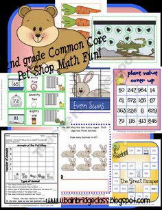 2nd grade common core math games pack!