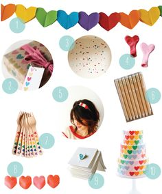A Heart Party via Oh Happy Day! For Birthdays or Valentine's Day!