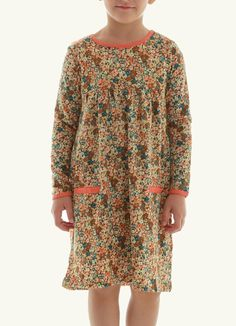 Anotahshop.com | Multicolored floral print dress for kids. #fashion