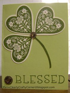 Pam's Clearly Crafty Corner: Scandinavian Wishes October 2013 SOTM with a twist . . .card st. Patrick's day