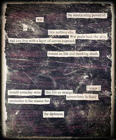 Stoned on Life - Blackout Poem by Kevin Harrell    www.blackoutpoetry.net