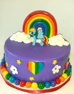 Rainbow My Little Pony Birthday Cake