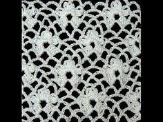 Crochet : Punto Enrejado con Flor. Parte 1 de 2 - YouTube
