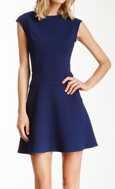 fit & flare navy dress