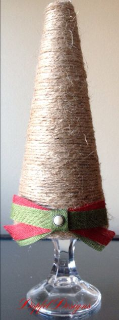 Twine / Burlap Christmas Tree on Etsy, $14.00