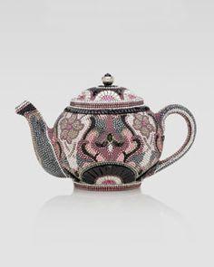 Judith Leiber Earl Grey Teapot Clutch Bag