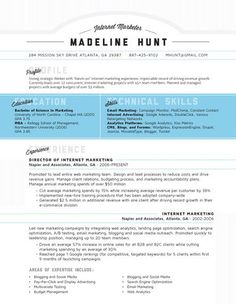 Creative Resume from Pinterest