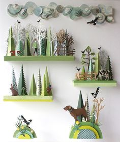 Helen Musselwhite Link leads to lots of amazing photos of nature inspired paper art! INSPIRATION