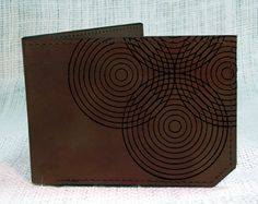wallet leather wallet circles wallet mens wallet by backerton