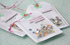 Confetti Gift Tags by Aly Dosdall_close