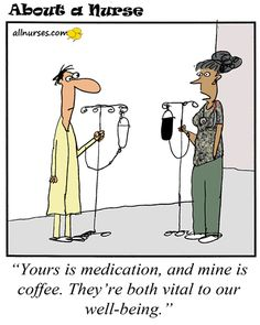 Cartoon: Coffee is my medicine - About A Nurse - Nursing Cartoon Series