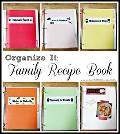 Organized Family Recipe Book