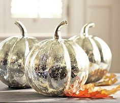 pumpkin crafts, spray, centerpiec, mercury glass, halloween pumpkins, the craft, craft stores, painted pumpkins, craft ideas