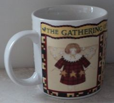 Sakura Gathering of Angels Debbie Mumm Coffee Cup Mug Angel Hearts Country  ~ This Item is for sale at LB General Store http://stores.ebay.com/LB-General-Store ~Free Domestic Shipping ~