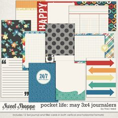 Sweet Shoppe Designs::Shop by DESIGNER::Traci Reed::Pocket Life: May Collection by Traci Reed