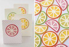 Favor citrus orange lime grapefruit  party theme orange lemon lime tangerine yellow green decor