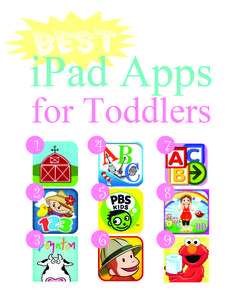 Best iPad Apps for Toddlers  Carsen loves the iPad!