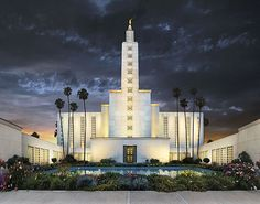 Los Angeles, California LDS Temple where Kent and I were sealed for time AND for eternity!