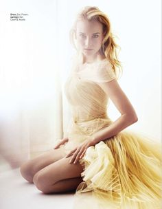 Diane Kruger, for Glamour UK (Photography by Simon Emmett) | 2013