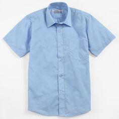 Authentic Galaxy Uniforms Boys Short Sleeve Dress Shirt