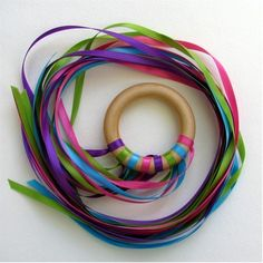 Dancing ribbon ring! I will be making some of these soon. - Re-pinned by #PediaStaff.  Visit http://ht.ly/63sNt for all our pediatric therapy pins