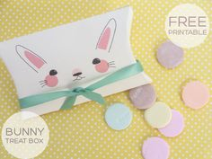 FREE printable Easter bunny treat box