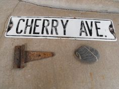 Vintage Cherry Street Sign Embossed 1950's by OldVintage2Retro, $45.00