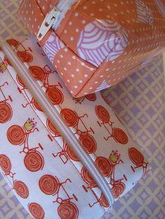 laminated cotton & box pouch tuts