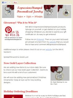 Pin it to Win it Newsletter #ExpressionsStamped
