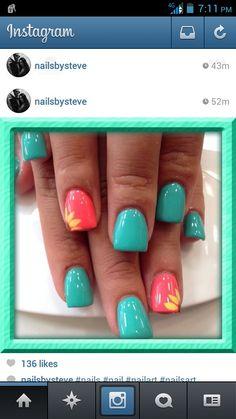 Going to try to do these nails!!!! Love spring time sooooooooooooooo beautiful!!!!!!