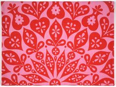 """Alexander Girard, """"Cutout Tablecloth [Pink and red]"""" (1961) 