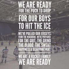 I love ice hockey!