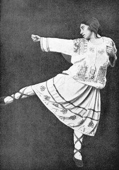 Lydia Sokolova in The Rite of Spring