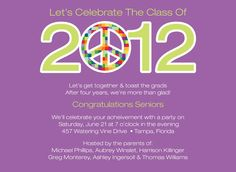 Say PEACE OUT, graduate!  This fun invitation is truly one of a kind!  By Noteworthy Collections.