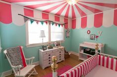i can see my son wanting this room coz of its red colors haha! How much fun would it be to sleep each night under a carnival tent? #SocialCircus