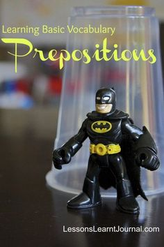 Teach prepositions with this simple game.