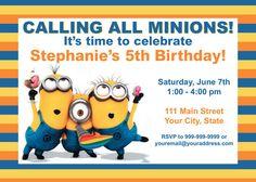 Minion Birthday Invites