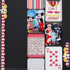 Disney layout based on a sketch from the Lilybee blog, using 3x4 cards from Project Life.